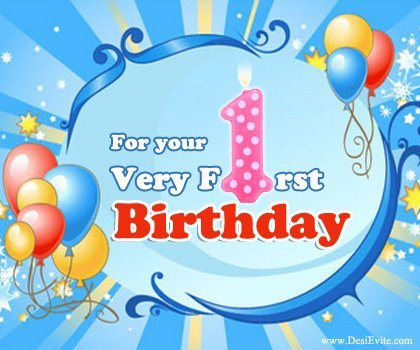 Birthday Wish on First Birthday – First Birthday Greeting Messages